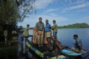 zTaking the Hog Deer on boat in Lunu Ganga