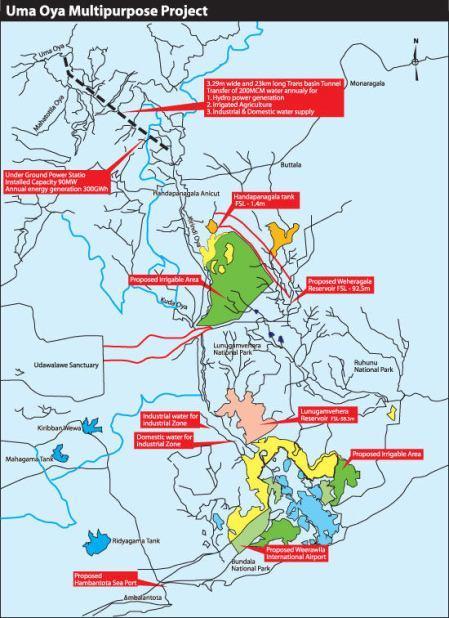 Map of Uma oya (c) DailyNews http://tinyurl.com/aqom58s