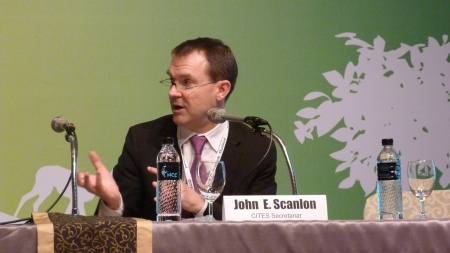 3 John Scanlon speaking at the final session