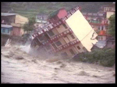 A house collapse - 10DeadInUttarakhandFloods