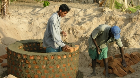 Building a hand dug well