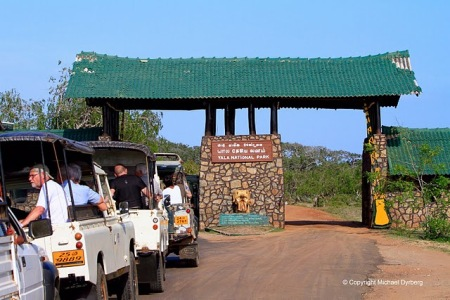Entrance of Yala National Park (c) Michael Dyberg