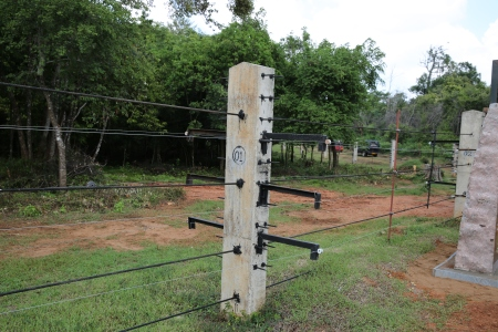 The electric fence is stronger than normal electric fences
